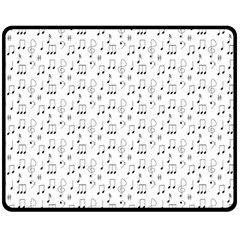 Music Notes Background Wallpaper Double Sided Fleece Blanket (medium)