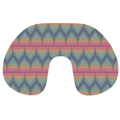 Pattern Background Texture Colorful Travel Neck Pillow by Bajindul
