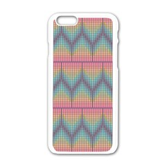 Pattern Background Texture Colorful Iphone 6/6s White Enamel Case by Bajindul