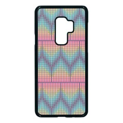 Pattern Background Texture Colorful Samsung Galaxy S9 Plus Seamless Case(black)