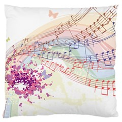 Music Notes Abstract Standard Flano Cushion Case (one Side) by Bajindul