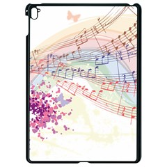 Music Notes Abstract Apple Ipad Pro 9 7   Black Seamless Case
