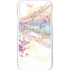 Music Notes Abstract Iphone Xs Seamless Case (white)