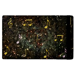 Music Clef Musical Note Background Apple Ipad 2 Flip Case by Bajindul