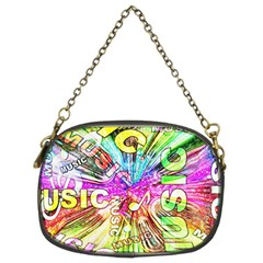 Music Abstract Sound Colorful Chain Purse (two Sides) by Bajindul