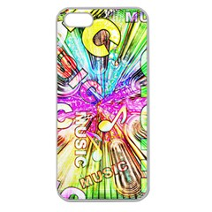 Music Abstract Sound Colorful Apple Seamless Iphone 5 Case (clear) by Bajindul