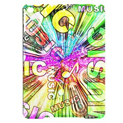 Music Abstract Sound Colorful Apple Ipad Pro 9 7   Black Uv Print Case