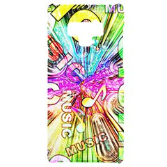 Music Abstract Sound Colorful Samsung Note 9 Black Uv Print Case  by Bajindul