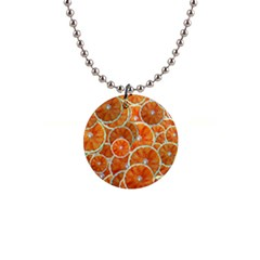 Oranges Background Texture Pattern 1  Button Necklace by Bajindul