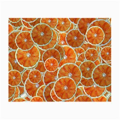 Oranges Background Texture Pattern Small Glasses Cloth (2 Sides) by Bajindul