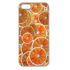 Oranges Background Texture Pattern Apple Seamless Iphone 5 Case (clear) by Bajindul