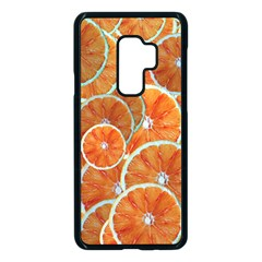 Oranges Background Texture Pattern Samsung Galaxy S9 Plus Seamless Case(black) by Bajindul