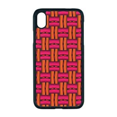 Pattern Red Background Structure Iphone Xr Seamless Case (black)