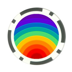 Rainbow Background Colorful Poker Chip Card Guard