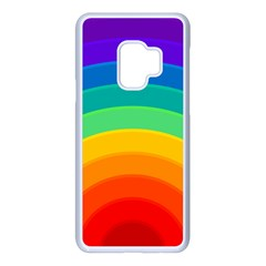 Rainbow Background Colorful Samsung Galaxy S9 Seamless Case(white)