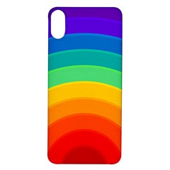 Rainbow Background Colorful Iphone X/xs Soft Bumper Uv Case