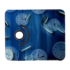 Time Clock Watch Hours Samsung Galaxy S  Iii Flip 360 Case by Bajindul