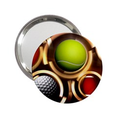 Sport Ball Tennis Golf Football 2 25  Handbag Mirrors by Bajindul