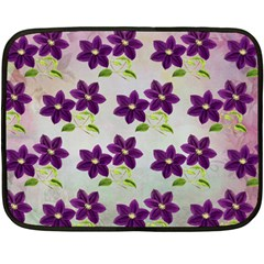 Purple Flower Double Sided Fleece Blanket (mini)