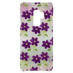 Purple Flower Samsung S9 Plus Black Uv Print Case by Bajindul