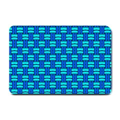 Pattern Graphic Background Image Blue Small Doormat