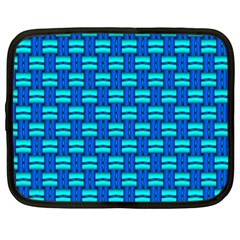 Pattern Graphic Background Image Blue Netbook Case (xxl)