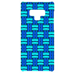 Pattern Graphic Background Image Blue Samsung Note 9 Black Uv Print Case  by Bajindul