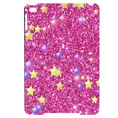 Stars On Sparkling Glitter Print,pink Apple Ipad Mini 4 Black Uv Print Case