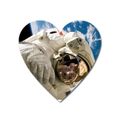 Astronaut Space Shuttle Discovery Heart Magnet by Pakrebo