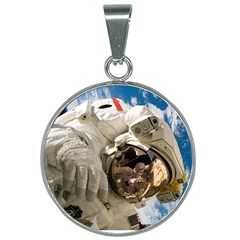 Astronaut Space Shuttle Discovery 25mm Round Necklace