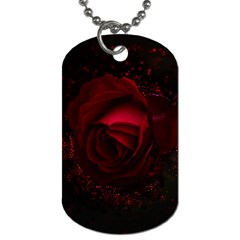 Rose Art Beautiful Beauty Bloom Dog Tag (one Side)
