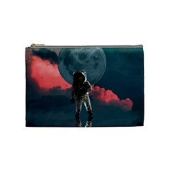 Astronaut Moon Space Planet Cosmetic Bag (medium) by Pakrebo