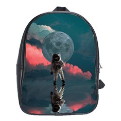 Astronaut Moon Space Planet School Bag (xl) by Pakrebo
