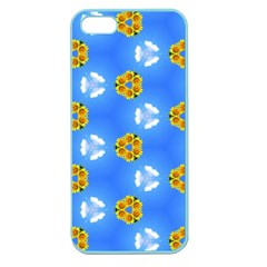 Pattern Sequence Motif Design Plan Flowers Apple Seamless Iphone 5 Case (color)