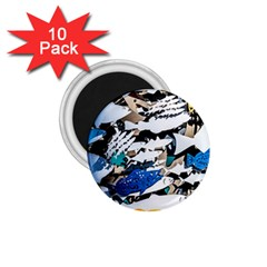 Art Fish Salmon Sydney Metal 1 75  Magnets (10 Pack)