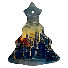 City Metro Pole Buildings Ornament (christmas Tree)