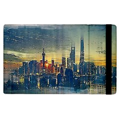 City Metro Pole Buildings Apple Ipad 2 Flip Case by Pakrebo