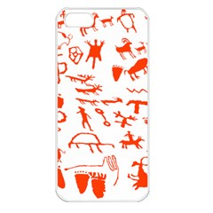 Petroglyph Art Symbols Art Rock Iphone 5 Seamless Case (white)