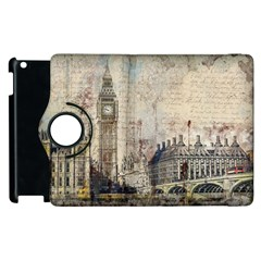 London Westminster Bridge Building Apple Ipad 3/4 Flip 360 Case