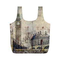 London Westminster Bridge Building Full Print Recycle Bag (m) by Pakrebo