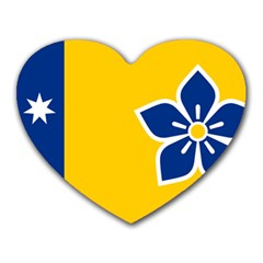 Proposed Flag Of Australian Capital Territory Heart Mousepads by abbeyz71