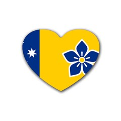 Proposed Flag Of Australian Capital Territory Heart Coaster (4 Pack)  by abbeyz71