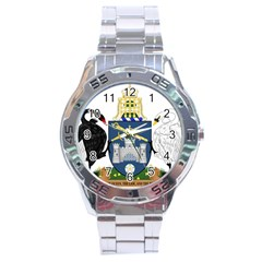 Coat Of Arms Of Australian Capital Territory Stainless Steel Analogue Watch by abbeyz71
