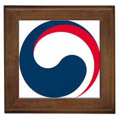 Government Emblem Of Government Of Republic Of Korea Framed Tiles by abbeyz71