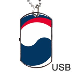 Government Emblem Of Government Of Republic Of Korea Dog Tag Usb Flash (two Sides) by abbeyz71