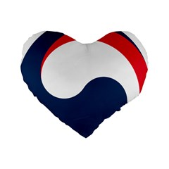 Government Emblem Of Government Of Republic Of Korea Standard 16  Premium Heart Shape Cushions by abbeyz71