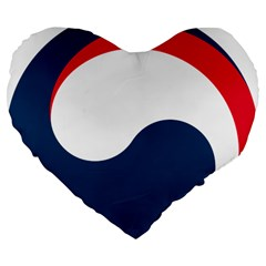 Government Emblem Of Government Of Republic Of Korea Large 19  Premium Flano Heart Shape Cushions by abbeyz71