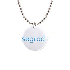 Logo Of Visegrád Group 1  Button Necklace by abbeyz71