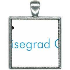 Logo Of Visegrád Group Square Necklace by abbeyz71