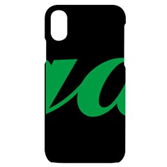 Logo Of Ashgabat Iphone X/xs Black Uv Print Case by abbeyz71